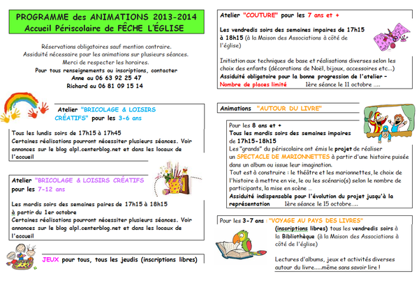 Programme Animation Page 3