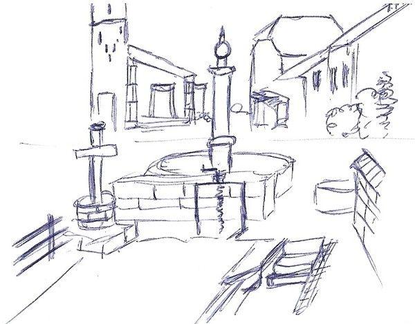 Concours de dessins dessine ton village dessiner un - Village dessin ...